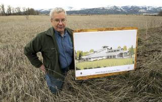Executive Director Dave Stack stands on the future site of the museum.
