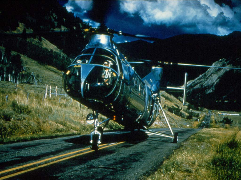 Air Force rescue helicopter.