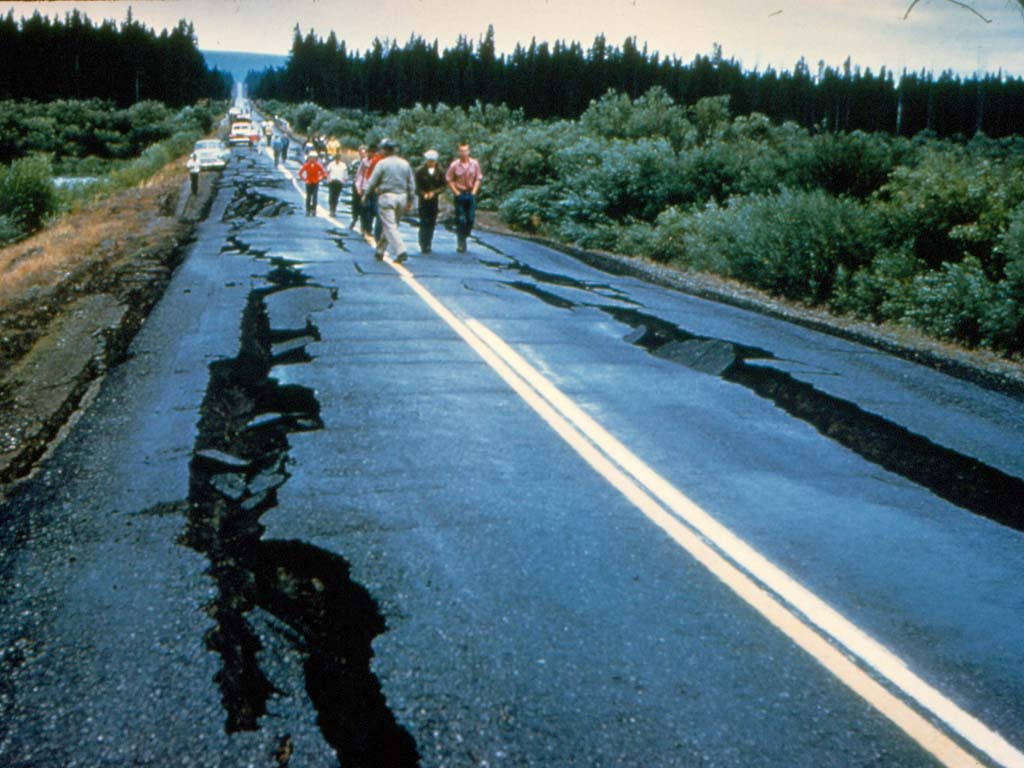Damage to the State highway.
